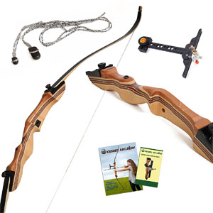 """Keshes Takedown recurve bow 62"""" 15-35lbs Review"""