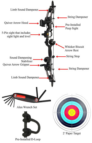 raptor compound hunting bow package